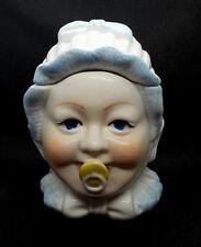 Stilarts Biedermeier Porzellan Puppen Kopf Porzellanfigur Schnuller Dose Alt