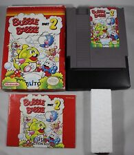 Bubble Bobble Part 2 Nintendo Entertainment System NES Complete in Box GREAT #B