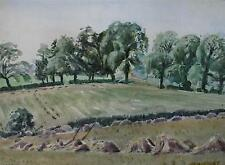 After the Harvest Watercolour Painting 1949 Ralph Hartley (British 1926-1988)