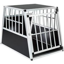 Transportín para perros box jaula de transporte aluminio viaje 66x90x69,5cm
