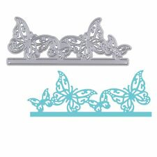 Silver Butterfly Cutting Dies Stencil DIY Scrapbooking Album Paper Card Lovely