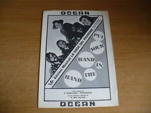 SPARTITO MUSICALE PUT YOUR HAND IN THE HAND PRENDI TRA LE MANI LE MIE OCEAN