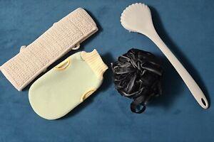 Shower Body Bath Brush Skin Back Massage Scrubber pamper set, ultimate clean set