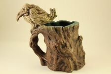 1973 Rumph Grotesque Pottery Splatter Bird Troll Inside Tankard Cup Mug Signed