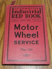 1926 Automotive Industrial Red Book Motor Wheel Service 616 pgs Hardbound