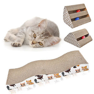 Cat Kitten Cardboard Corrugated Scratcher Pet Scratching Board Pad Sofa Bed Mat
