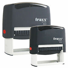 Custom Self Inking Rubber Stamp Traxx 9012 4 lines