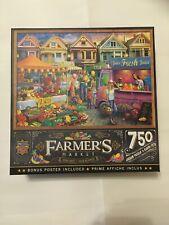 Masterpieces Farmer's Market WEEKEND MARKET 750 piece jigsaw puzzle USED