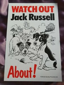 Watch Out Jack Russell About Dog security sign dogs signs Jack Russells Terriers