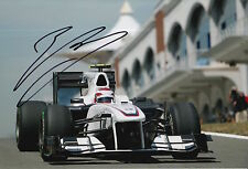 Kamui Kobayashi Hand Signed 12x8 Photo Sauber F1 2.