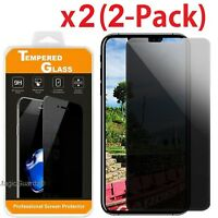 Privacy Anti-Spy Tempered Glass Screen Protector Shield for iPhone X 6s 7 8 Plus
