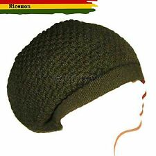 Army Green Rasta Dread Dreadlocks Tam Hat Beret Cap Reggae Marley Jamaica M/L