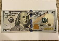 Rare 2009 $100 DOLLAR BILL FEDERAL RESERVE STAR NOTE In Almost Brand New Shape