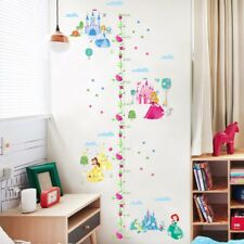 Castle Princess Height Measure Wall Sticker | Growth Chart Girl Room Decal Decor