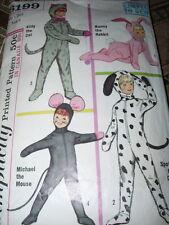 1965 SIMPLICITY #6199 - CHILDS KITTY CAT - BUNNY RABBIT - MOUSE - DOG PATTERN  4