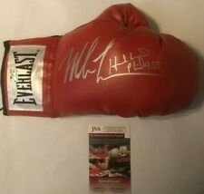 Mike Tyson & Evander Holyfield Autographed Everlast Red Boxing Glove JSA COA