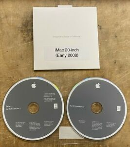 Apple iMac 20-inch Early 2008 Original Software Packet