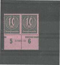Ungeprüfte postfrische Dienstmarken aus dem deutschen Reich