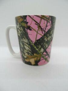 Mossy Oak Pink Camo Coffee Cup Mug Break Up Infinity 16 ounces.