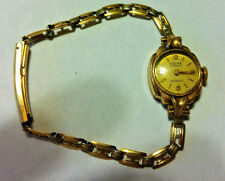 Vintage Baume Co. Swiss Made 21 Jewel Mechanical Ladies 10KGP Cocktail Watch