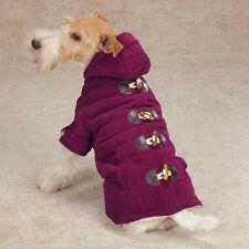 XSMALL Purple Corduroy Sherpa lined Hooded Dog Coat Chihuahua Shih tzu Yorke USA