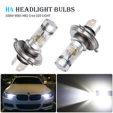 2pcs H4 100W Light Bright White Car Headlight Bulbs Lamp 12V 6000K CREE LED