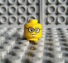 LEGO Yellow Old Man Glasses Minifigure Head Ninjago Postman