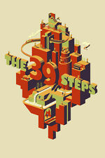 THE 39 STEPS ALFRED HITCHCOCK MOVIE POSTER LIMITED SILKSCREEN PRINT ADAM SIMPSON