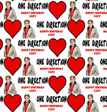 Personalised Gift Wrapping Paper Music ONE DIRECTION NIALL Birthday Any Name