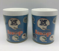 2 Vintage Thermo-Sew iHop NFL NFC Helmet Plastic Cups Football Cowboys Packers