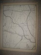 ANTIQUE 1931 GRANTS COLEBROOK WINCHESTER HARTFORD COUNTY CONNECTICUT MAP RARE