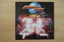 """Ace Frehley`s Comet """"Kiss"""" Autogramm signed LP-Cover """"Live+1"""" Vinyl"""