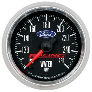 880086 Autometer 880086 Fits Ford Racing Series Electric Water Temperature Gauge