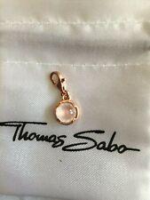 Thomas Sabo Charm Anhänger Rosegold mit Rosa Stein 925 Silber