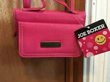 JOE BOXER PINK  Strap Crossbody wallet purse  Women's Small NEW