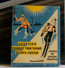 16x24 1940s Sun Valley Ski Resort Union Pacific RR Vintage Skiing Snow Print