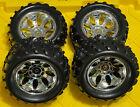 TRUCK Tire Set C 4PCS SQUARE DRIVE For FG Smartech Nutech Duratrax Carson 1/5 RC