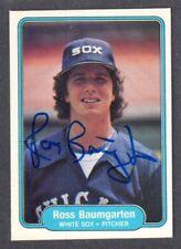 1982 FLEER #337  Ross Baumgarten  CHICAGO WHITE SOX  SIGNED AUTOGRAPH AUTO COA