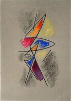 """Gino SEVERINI """"Frontespizio"""" , 1965 litografia originale firmata sulla pietra"""