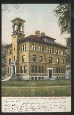 POSTCARD SPRINGFIELD OH/OHIO HAMMA DIVINITY HALL WITH TOWER 1907