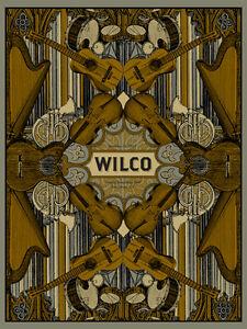Wilco Gig Poster, San Diego 2012 (Original Silkscreen) 18 x 24' Print