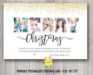 Personalised Photo Cards Print Your Own or We Print Photo Words Confetti