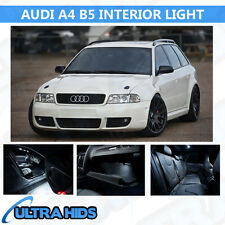 AUDI A4 B5 13 PIECE WHITE INTERIOR UPGRADE ERROR FREE LED LIGHT KIT SET SMD