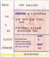 original 1982-83 division 1 EVERTON LIVERPOOL (champions) ticket
