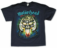 "MOTORHEAD ""OVERKILL"" NAVY BLUE T-SHIRT NEW OFFICIAL ADULT"