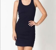 American Apparel Ribbed Racerback sleeveless Black Dress  sz m