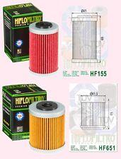 HF155 & HF651 A pair of oil filter KTM 690 Duke SMR & Enduro  2012-17