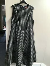 BNWOT Boden Octavia British Tweed  by Moon Grey Spot Dress  Size 16 L