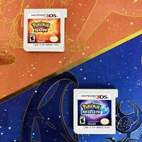 Pokemon Sun And Moon 3DS Bundle Lot With Hardcover Guide Nintendo Cartridge ONLY