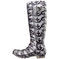 Kamik Womens Dynamic Waterproof Rubber Rain Boot Black/White  Size US 9 M